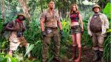 The Rock e il Cast di Jumanji