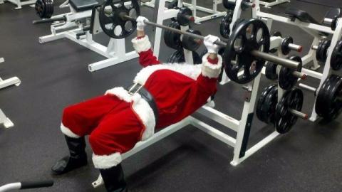 Babbo Natale in palestra