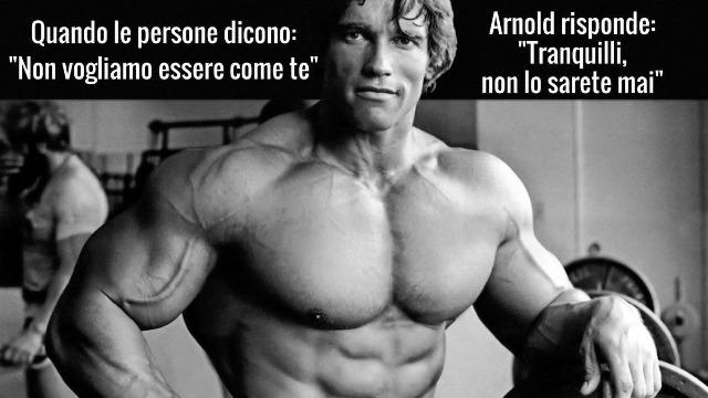 Meme di Arnold Schwarzenegger
