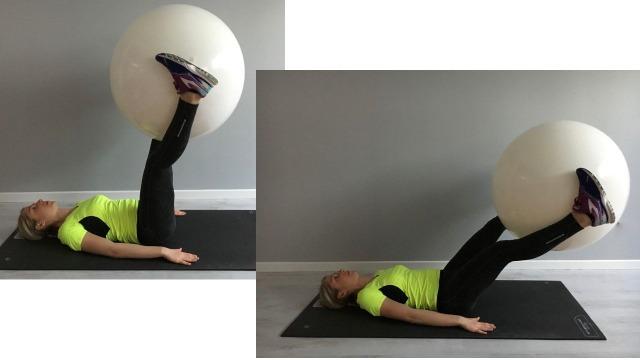 Sabrina Galimberti esegue un Crunch con Fitball tra le gambe