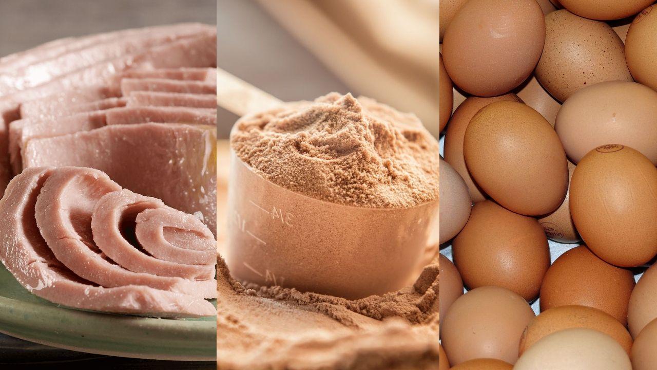 Tonno al naturale, proteine in polvere e uova sode