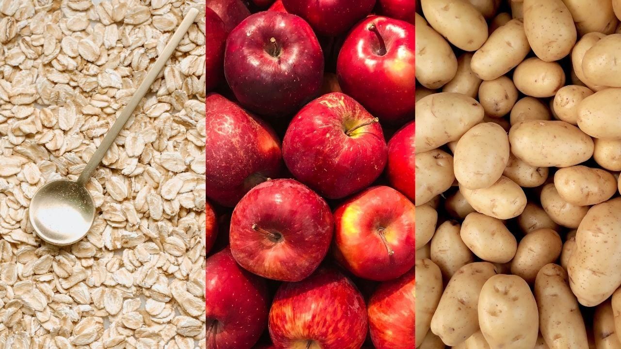 Avena, mele e patate