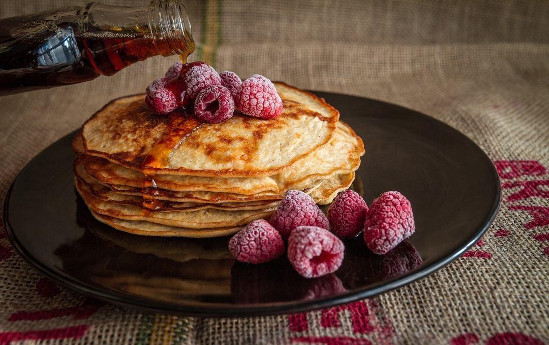 Pancake con lamponi